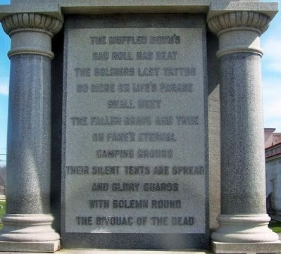 Darke County Civil War Monument (west side) image. Click for full size.