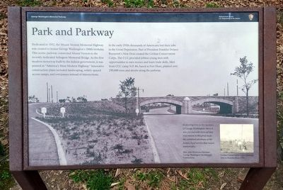 Park and Parkway Marker image. Click for full size.