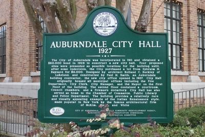 Auburndale City Hall Marker image. Click for full size.