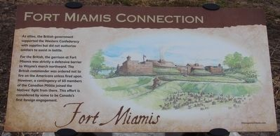 Fort Miamis Connection Marker image. Click for full size.