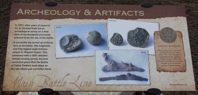 Archeology & Artifacts Marker image. Click for full size.