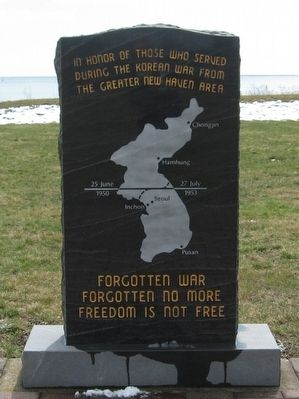 New Haven Area Korean War Monument image. Click for full size.