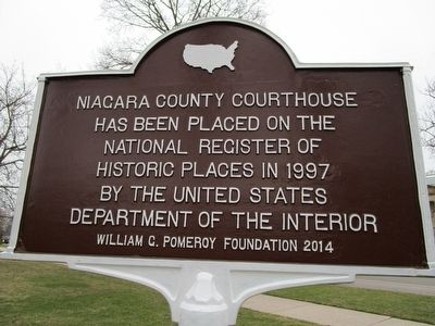 Niagara County Courthouse Marker image. Click for full size.