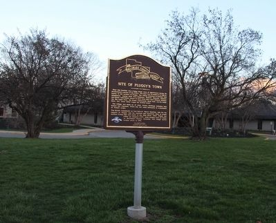 Site of Pluggy's Town Marker image. Click for full size.