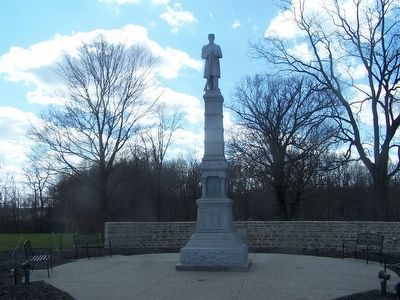 Jerome Township Soldier's Monument image. Click for full size.