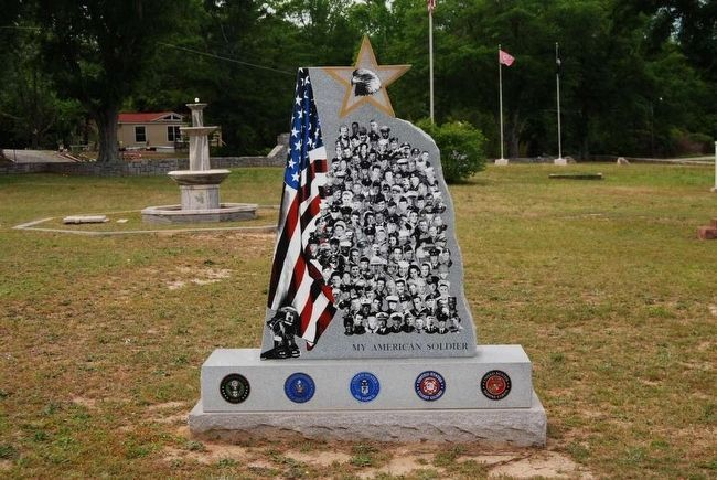 My American Soldier Monument<br>Front image. Click for full size.