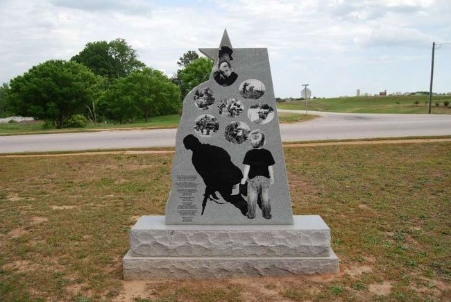 My American Soldier Monument<br>Reverse (Inscription is located on lower left corner) image. Click for full size.