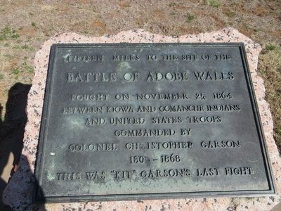 Battle of Adobe Walls Marker image. Click for full size.