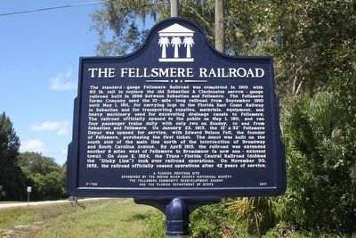 The Fellsmere Railroad Marker image. Click for full size.