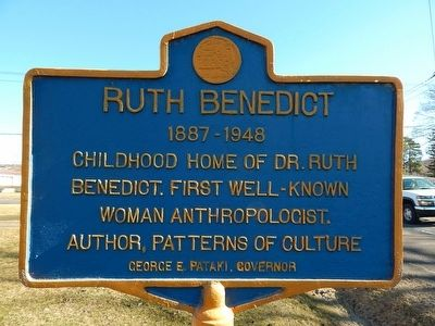 Ruth Benedict Marker image. Click for full size.