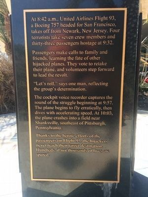 9-11 Tribute Marker [side 3 of 5] image. Click for full size.
