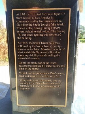 9-11 Tribute Marker [side 4 of 5] image. Click for full size.