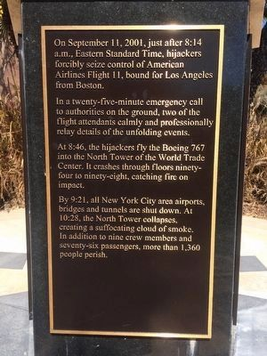 9-11 Tribute Marker [side 2 of 5] image. Click for full size.
