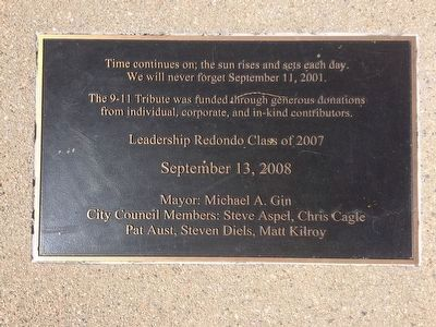 9-11 Tribute Marker image. Click for full size.