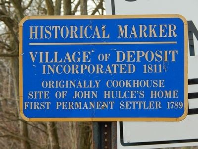 Village of Deposit Incorporated 1811 Marker image. Click for full size.
