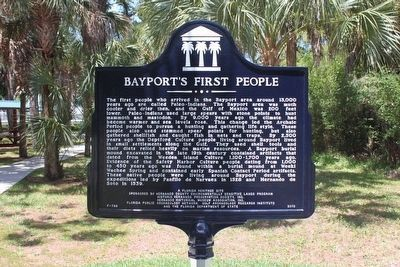 Bayport's First People Marker (side 2) image. Click for full size.