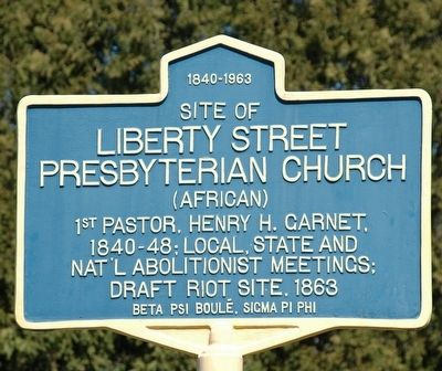 Liberty Street Presbyterian Church Marker image. Click for full size.