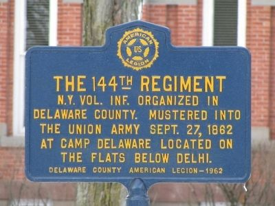 The 144th Regiment Marker image. Click for full size.