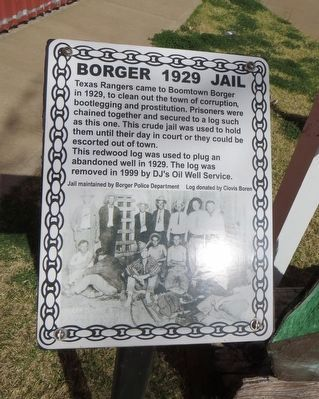 Borger 1929 Jail Marker image. Click for full size.