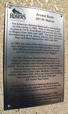 Arvest Bank Historical Marker