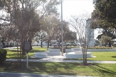 Montverde Academy Marker with part of the campus in the background image. Click for full size.