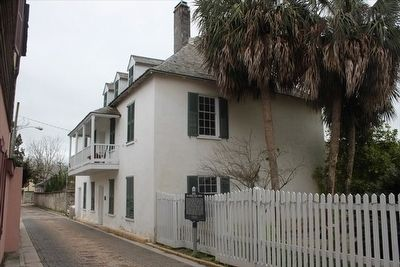 The Ximenez-Fatio House Marker and house image. Click for full size.