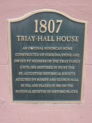 Triay-Hall House Marker image. Click for full size.