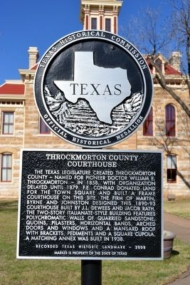 Throckmorton County Courthouse Marker image. Click for full size.