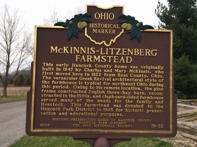 Indian Green McKinnis-Litzenberg Farmstead Marker image. Click for full size.