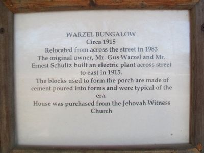 Warzel Bungalow Marker image. Click for full size.