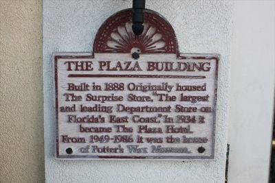 The Plaza Building Marker image. Click for full size.