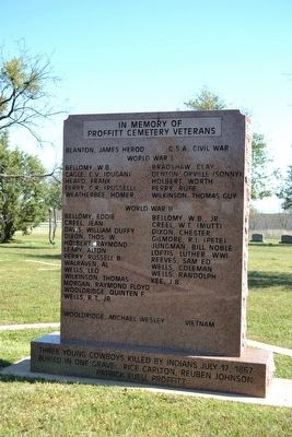 Proffitt Cemetery Veterans Memorial image. Click for full size.
