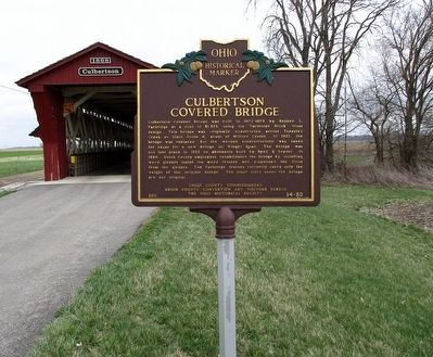 Culbertson Covered Bridge Marker image. Click for full size.