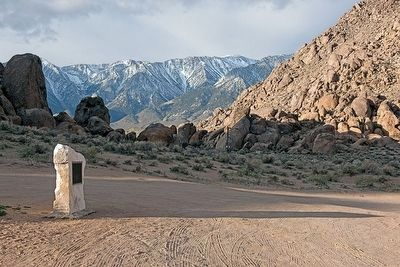 Alabama Hills in the Foreground and Sierra Nevada in the Background image. Click for full size.