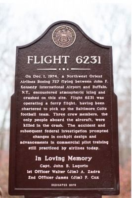 Flight 6231 Marker image. Click for full size.