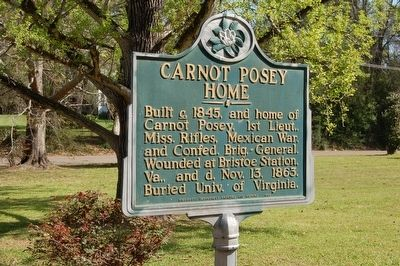 Carnot Posey Home Marker image. Click for full size.