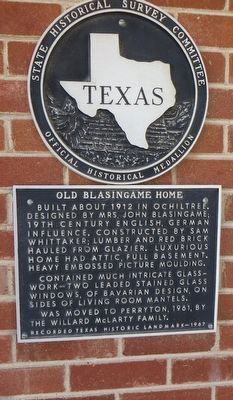 Old Blasingame Home Marker image. Click for full size.