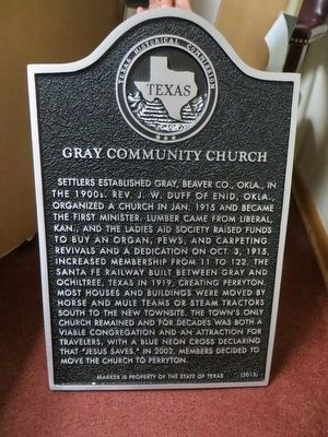 Gray Community Church Marker image. Click for full size.