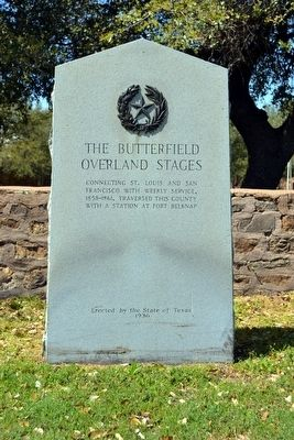 The Butterfield Overland Stages Marker image. Click for full size.