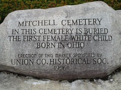 Mitchell Cemetery Stone #1 Marker image. Click for full size.