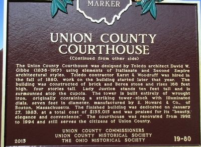 Union County, Ohio Marker image. Click for full size.