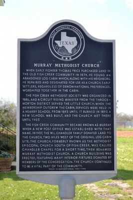 Murray Methodist Church Marker image. Click for full size.