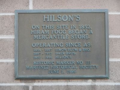 Hilson's Marker image. Click for full size.