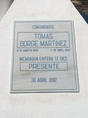 Tomb of Tomas Borge Martinez Marker image. Click for full size.