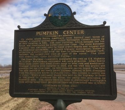 Pumpkin Center Marker (Front) image. Click for full size.