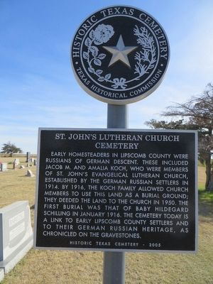 St. John's Lutheran Church Cemetery Marker image. Click for full size.