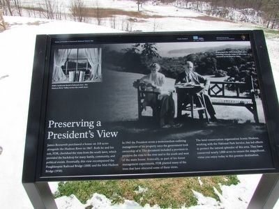 Preserving a President�s View Marker image. Click for full size.