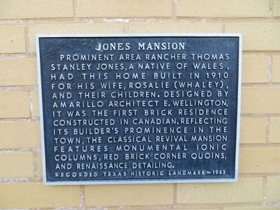 Jones Mansion Marker image. Click for full size.