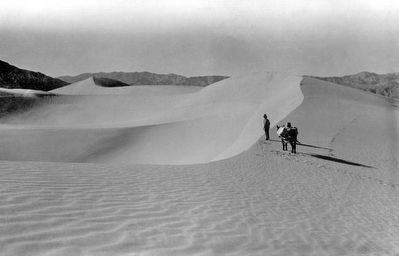 Shorty Harris and His Pack Burro in Death Valley image. Click for full size.
