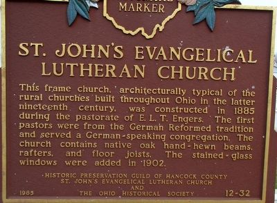 St. John�s Evangelical Lutheran Church Marker image. Click for full size.